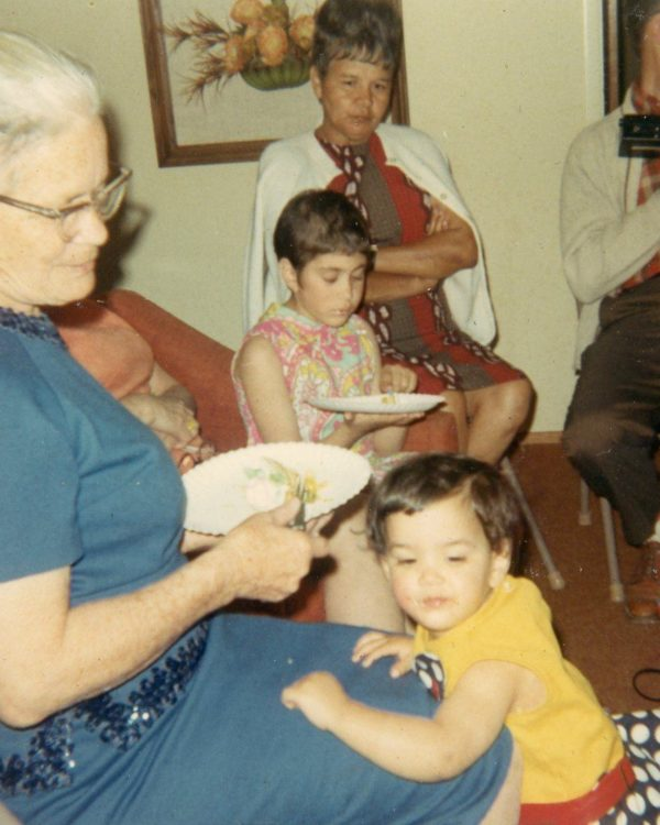 My grandmother and me on my 1st birthday