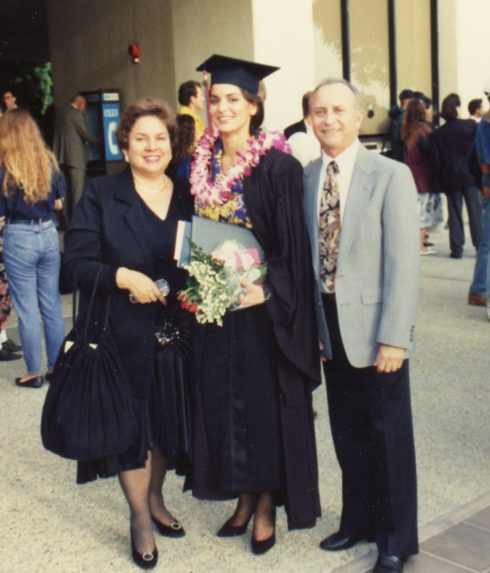 Pepperdine University Graduation December 11, 1992 - Mom and Dad and me
