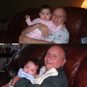 Proud Grandpa with His Granddaughter and Grandson!